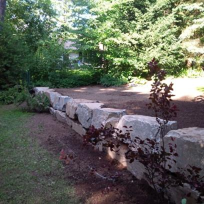 Solid Granite Armour Stone Retaining walls