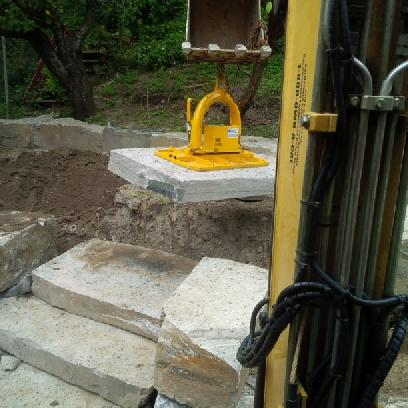 Granite Step Placement Suction