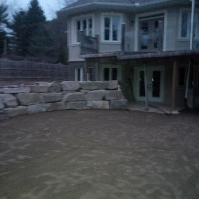 3 Tier Rock Retaining wall